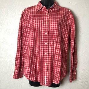 TOMMY HILFIGER plaid long sleeve button shirt Sz M
